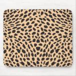 Decoración del guepardo de la piel alfombrillas de ratones