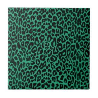Decoración del hogar del modelo del leopardo del v teja
