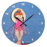 Decoración del hogar del reloj del ballet