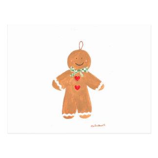 Decoración del hombre de pan de jengibre tarjeta postal