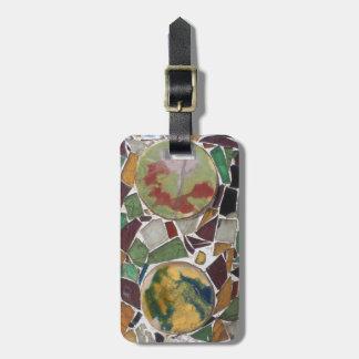 Decoración del mosaico etiquetas para maletas