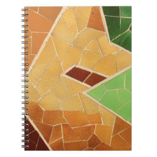 Decoración del mosaico libro de apuntes