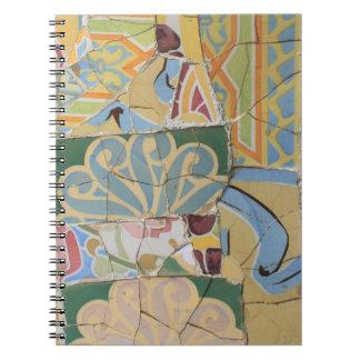 Decoración del mosaico notebook
