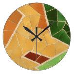 Decoración del mosaico reloj