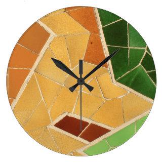 Decoración del mosaico reloj redondo grande