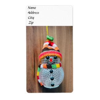 Decoración del muñeco de nieve etiquetas de envío