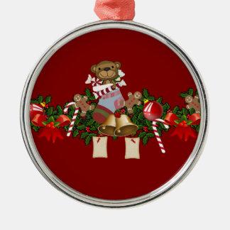 Decoración del navidad adorno navideño redondo de metal