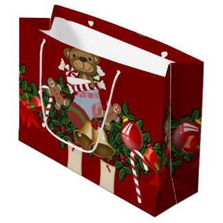 Decoración del navidad bolsa de regalo grande