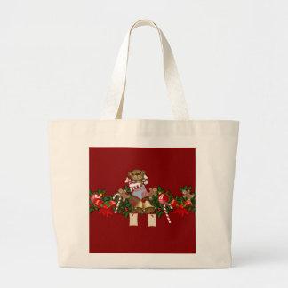 Decoración del navidad bolsa de tela grande