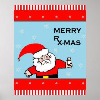 decoración del navidad de la farmacia póster