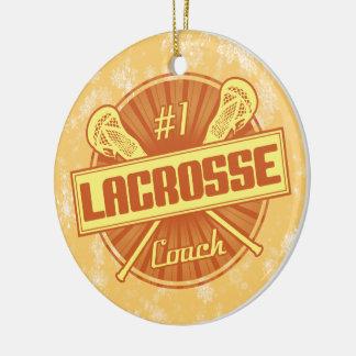 Decoración del navidad de LaCrosse, coche flojo #1 Adorno Navideño Redondo De Cerámica