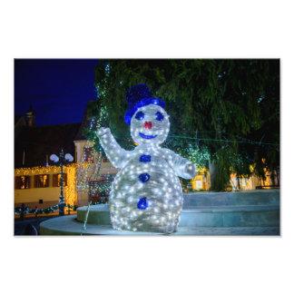 Decoración del navidad del muñeco de nieve arte con fotos