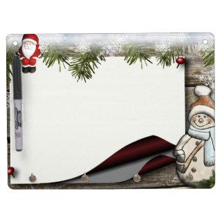 Decoración del navidad pizarra blanca