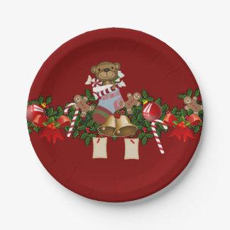Decoración del navidad platos de papel