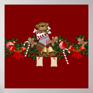 Decoración del navidad póster