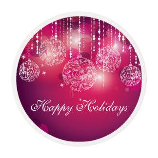Decoración del navidad que hiela rondas láminas de azúcar para galletas