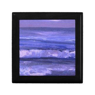 Decoración del océano del arte de las ondas del ma caja de joyas