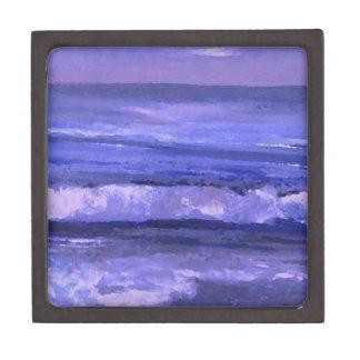 Decoración del océano del arte de las ondas del ma caja de regalo de calidad