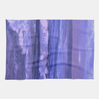 Decoración del océano del arte de las ondas del toalla de mano