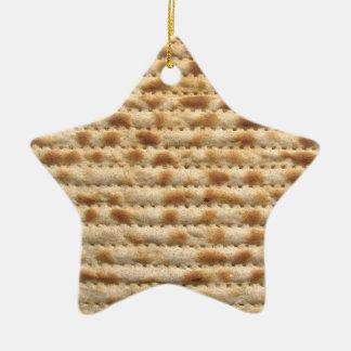 Decoración del ornamento de la estrella del adorno navideño de cerámica en forma de estrella