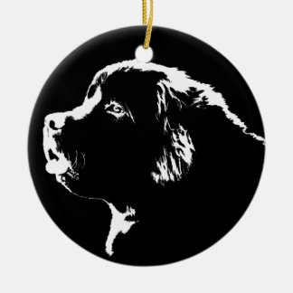 Decoración del perro del navidad del ornamento del adorno redondo de cerámica