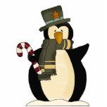 Decoración del pingüino del navidad escultura fotografica