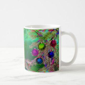 Decoración del pino del día de fiesta taza de café