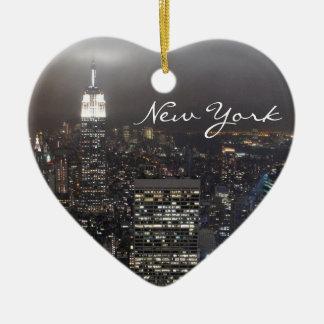 Decoración del recuerdo de Nueva York del Adorno Navideño De Cerámica En Forma De Corazón