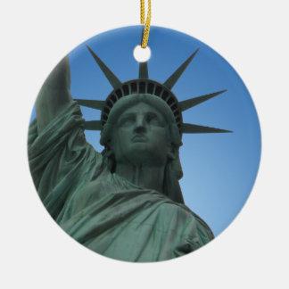 Decoración del recuerdo de Nueva York del Adorno Navideño Redondo De Cerámica