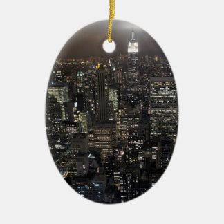 Decoración del recuerdo de Nueva York del ornament Ornamento De Navidad