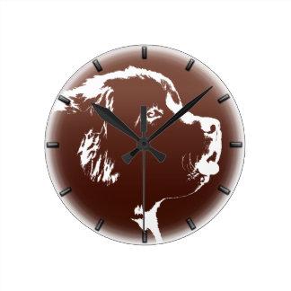 Decoración del reloj de pared del amante del perro