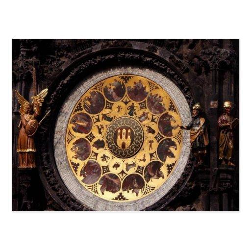 Decoración del reloj de Prauge Postales
