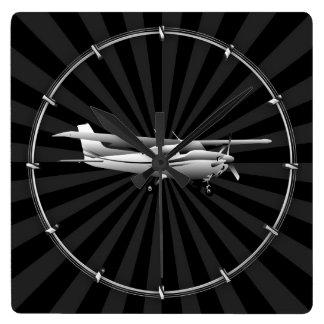 Decoración del resplandor solar del vuelo de la reloj cuadrado