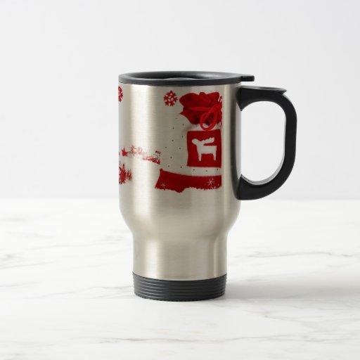 Decoración del saco del navidad taza de café