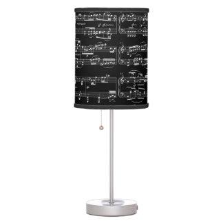 decoración del sitio de la música lámpara de mesilla de noche