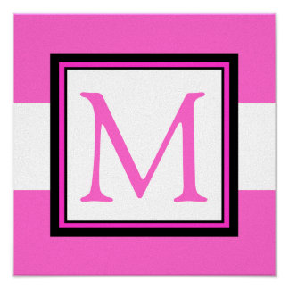 Decoración del sitio del chica de la inicial del m póster