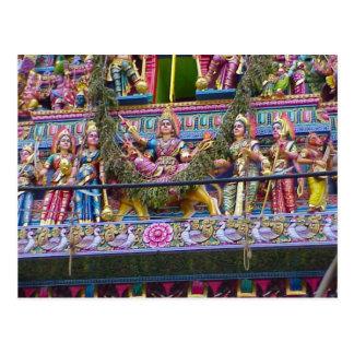 Decoración del templo hindú, gopuram garlanded postal
