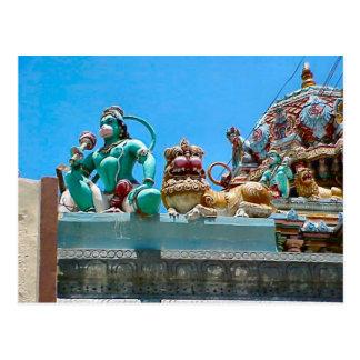 Decoración del templo hindú tarjetas postales