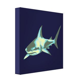 decoración del tiburón azul impresión en lona estirada