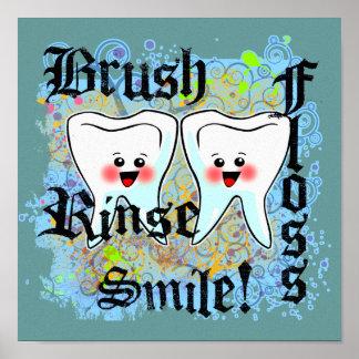 Decoración dental de la oficina póster