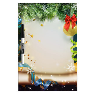 Decoración elegante del navidad pizarra
