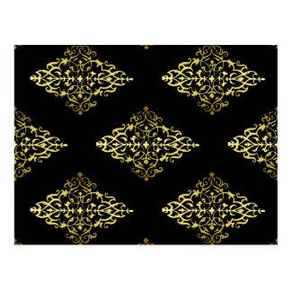 Decoración elegante del oro tarjetas postales