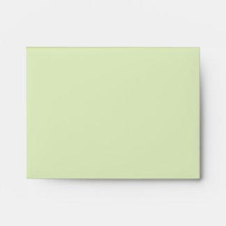 Decoración en colores pastel del color verde de la sobre