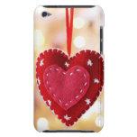 Decoración en forma de corazón del fieltro, cierre iPod touch Case-Mate cárcasas