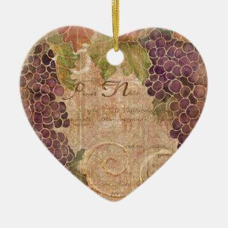Decoración envejecida del hogar de la acuarela del adorno navideño de cerámica en forma de corazón
