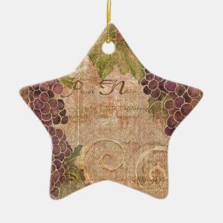 Decoración envejecida del hogar de la acuarela del adorno navideño de cerámica en forma de estrella