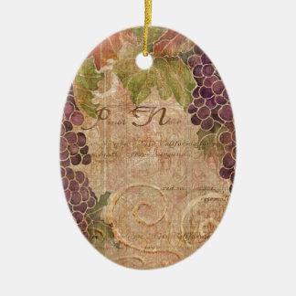 Decoración envejecida del hogar de la acuarela del adorno navideño ovalado de cerámica
