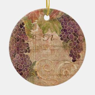Decoración envejecida del hogar de la acuarela del adorno navideño redondo de cerámica