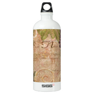 Decoración envejecida del hogar de la acuarela del botella de agua