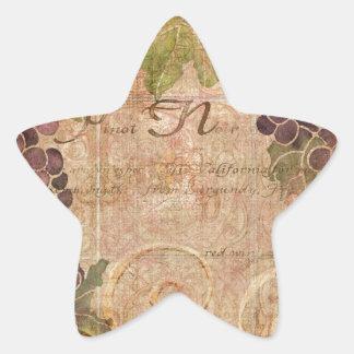 Decoración envejecida del hogar de la acuarela del pegatina en forma de estrella
